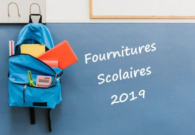 Fournitures scolaires 2019