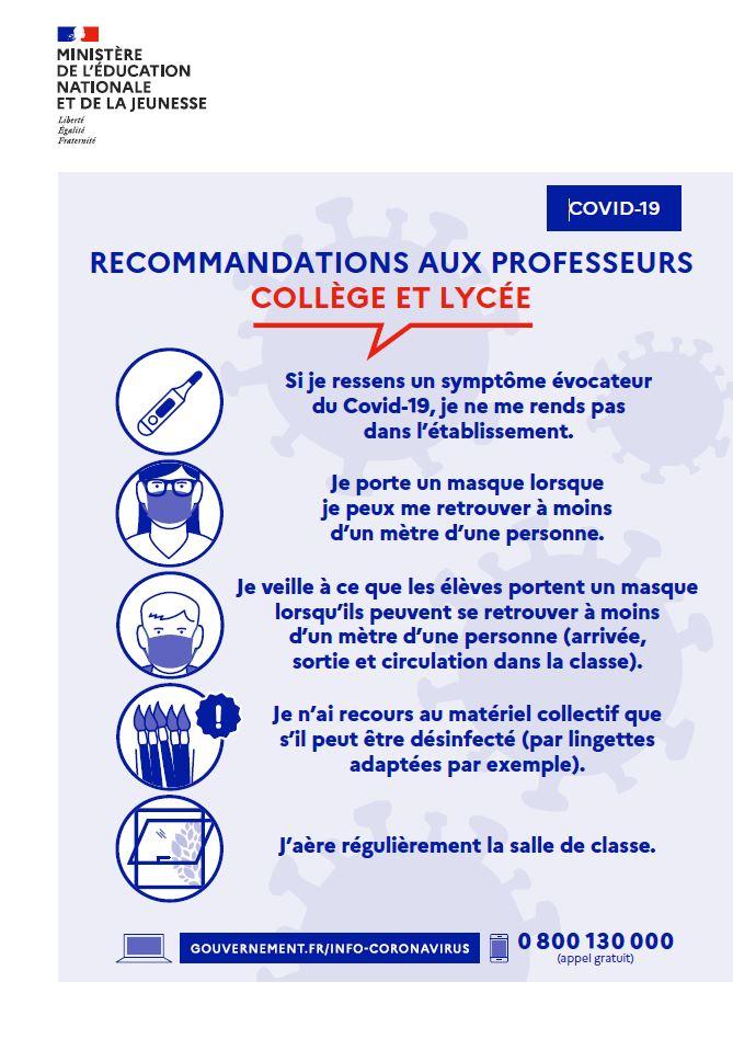 Recommandations professeurs