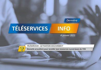 EDUCONNECT pour se connecter aux téléservices